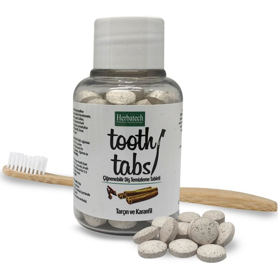 Herbatech Çiğnenebilir Diş Temizleme Tableti (Tarçın ve Karanfil)
