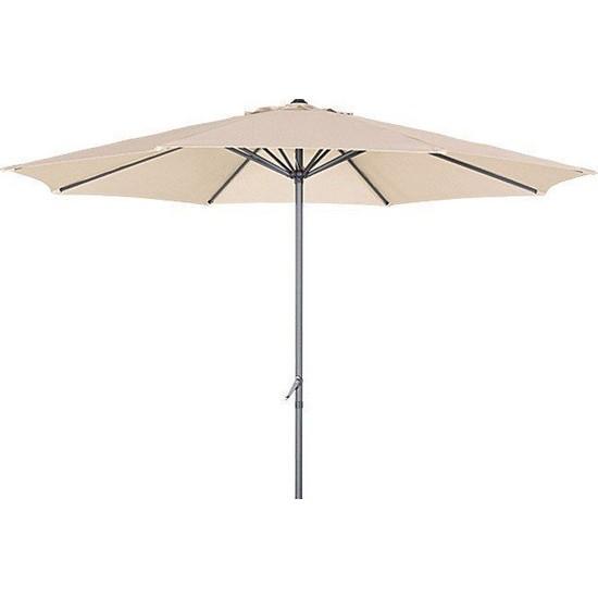 Bidesenal Bahçe Şemsiyesi 3 Metrelik Makaralı Balkon Şemsiyesi Teras Şemsiye Havuz Şemsiye Gölgelik Krem