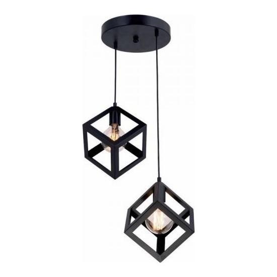 Hepsiniver Home Kare Geometrik 2'Li Küp Avize