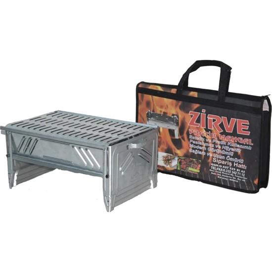 Zi̇rve Katlanır Mangal Prati̇k Taşınabilir Çantalı Mangal 27 x 40 cm