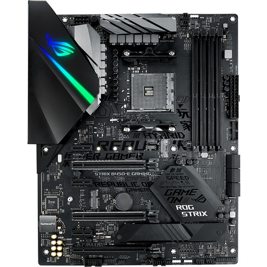 Asus ROG Strix B450-E Gaming Amd B450 DDR4 4400 MHz Am4 Wifi + Bt Atx Anakart