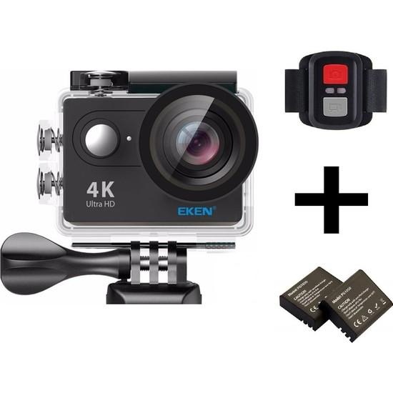 Eken H9R 4K Ultra Hd Wifi Aksiyon Kamera + Yedek Batarya - Siyah