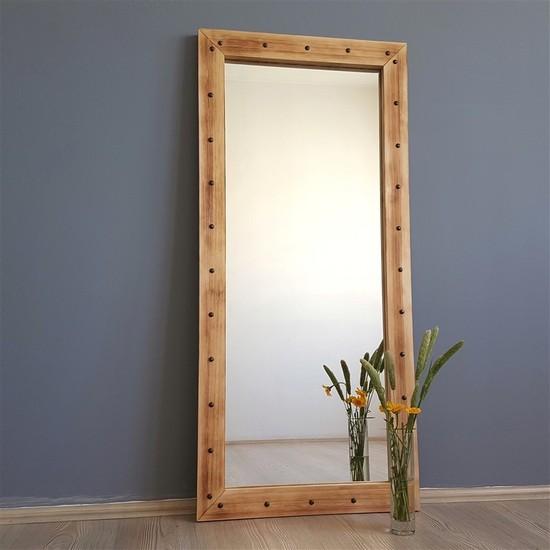 Neostill-Doğal Ahşap Dekoratif Salon Ofis Boy Ayna 50X110ES