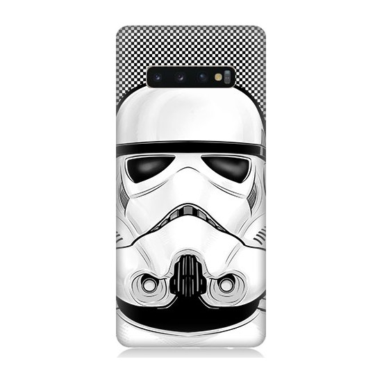 Teknomeg Samsung Galaxy S10 Star Wars Storm Trooper Desenli Tasarım Silikon Kılıf