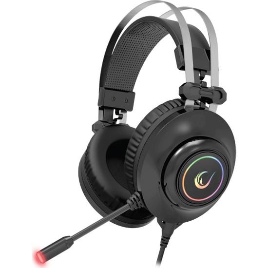 Rampage Rm-K1 Pulsar Siyah USB 7,1 Version Rgb Işık Efektli Oyuncu Mikrofonlu Kulaklık