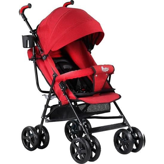 Babyhope S-A-7 Tam Yatar Baston Bebek Arabası Kırmızı