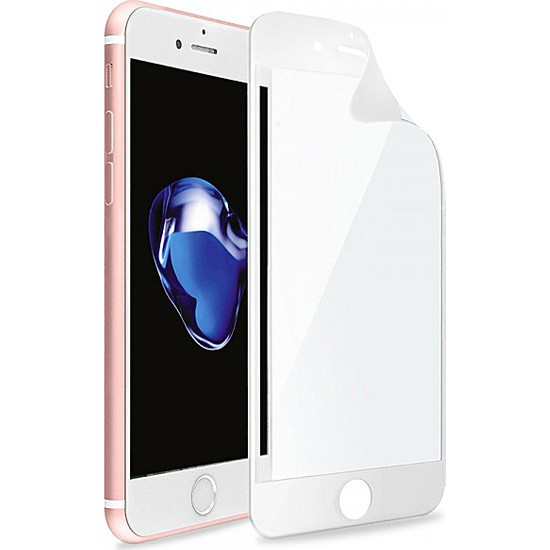 Monsterskin Apple iPhone 7 / 8 Pet 5D Full Kaplayan İnce Ultra Darbeye Dayanaklı Ekran Koruyucu