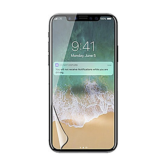 Monsterskin Apple iPhone X / XS Pet 5D Full Kaplayan İnce Ultra Darbeye Dayanaklı Ekran Koruyucu