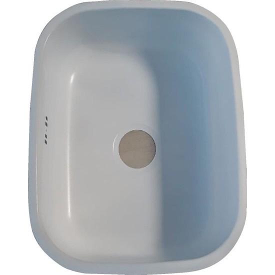 Sellin Kaplama Renklimetal Mutfak Evyesi Köşeli Tezgah Altı 38Cm X 48Cm Beyaz