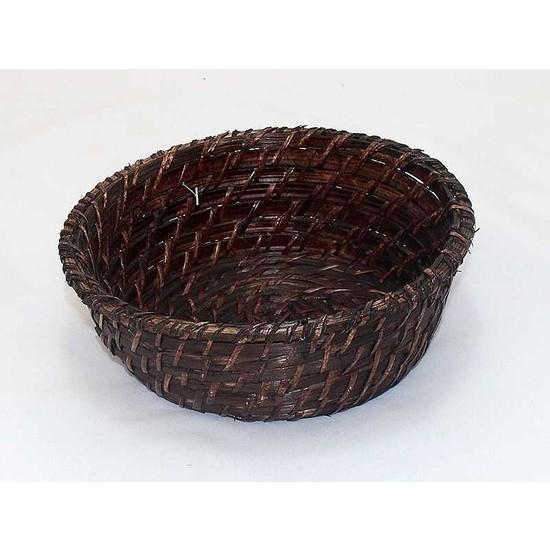 Üçer Rattan Ekmek Sepeti Küçük Yuvarlak