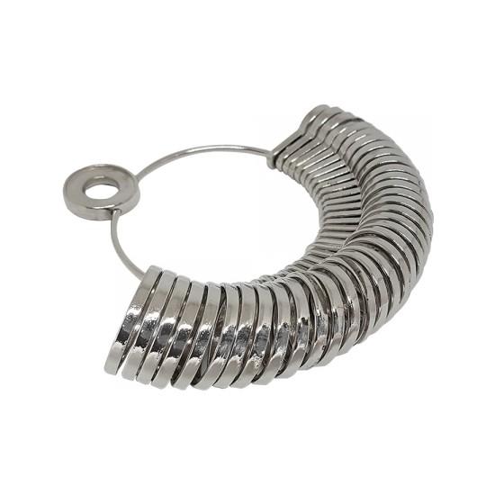 Tevuli Gümüş 925 Ayar Metal Parmak Yüzük Ölçü Halkası