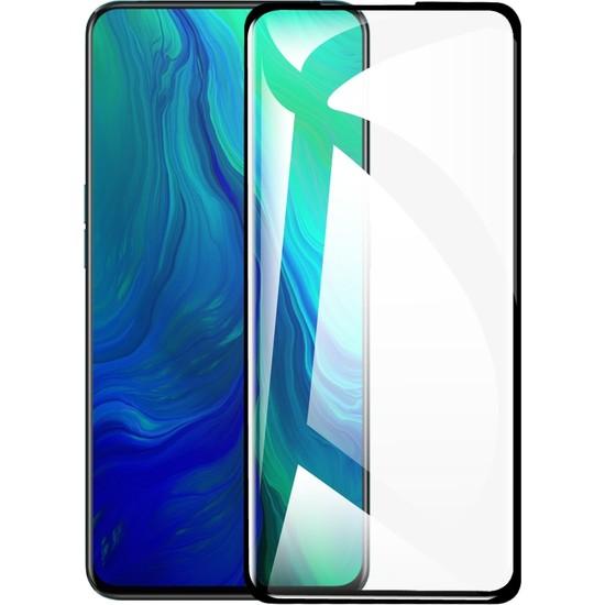 Eiroo Oppo Reno Curve Tempered Glass Full Siyah Cam Ekran Koruyucu