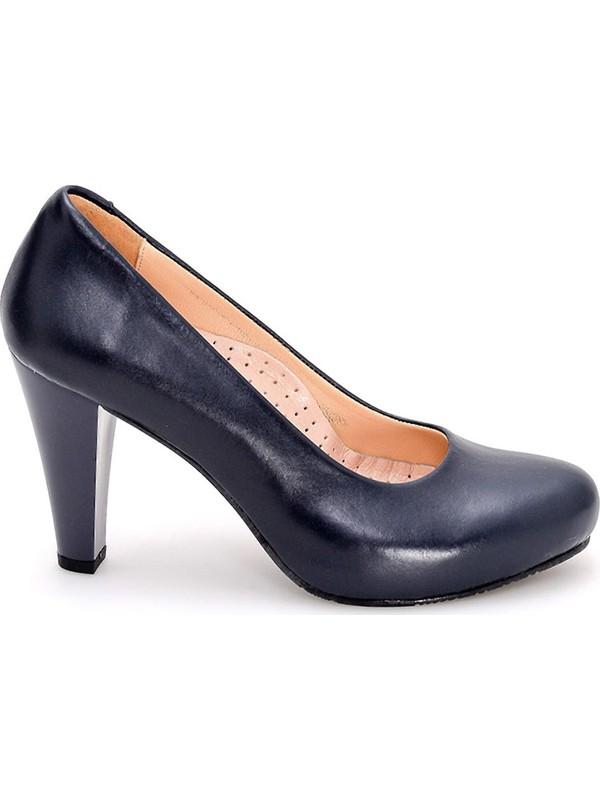 Girl Boss New York Mona Siyah Deri Platformlu Comfort Hostes Ayakkabısı C4009-P-1