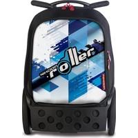 Nikidom Çek Çek / Tekerlekli Okul Çantası Roller Cool Blue L Ve Büzgülü Spor Çantası Set