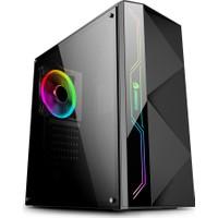 GameBooster GB-G3605B USB3.0 Siyah Rainbow RGB Steel Led Strip Kasa (PSU Yok) (JBST-GBG3605B)