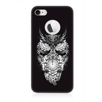Teknomeg Apple iPhone 7 Siyah Ruber Gizemli Mistik Baykuş