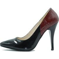 Arıcı 766 Arıcı Kadın Topuklu Ayakkabı Siyah Bordo