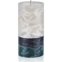 Hepsi Home Mum - Marble - 103136 - Ekru Antrasit Yeşil - 10 x 20 cm
