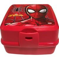 Hakan Çanta Spiderman Kırmızı Erkek Çocuk Beslenme Kabı (Dört Bölmeli)