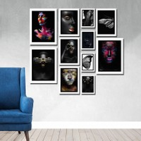 Cadran Luxury Modern Home Dekoratif 11 Parçalı Mdf Tablo CNA012