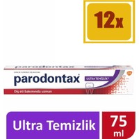 Parodontax Ultra Clean Diş Macunu 75 ml 12'li Set
