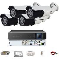 QROMAX PRO 742SB 4' lü 5 Megapiksel SONY LENS 1080P Aptina Sensör Metal Kasa Güvenlik Kamerası Seti