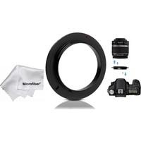 Tianya Canon 18-55MM Için 58MM Macro Makro Ters Lens Objektif Bağlantı Adaptörü
