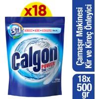Calgon Çamaşır Makinesi Kireç Önleyici Toz 500 gr x 18 Adet