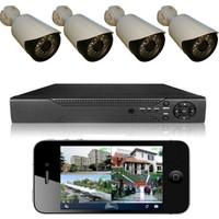 Picam 4 Kameralı Set Gece Görüşlü Güvenlik Kamerası 2mp Ahd Dvr Plastik Kasa