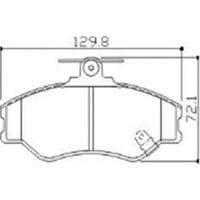 Beser Fren Balatası Ön Wva 23081 Hyundai H100 Panel Van 93