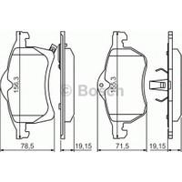 Bosch Fren Balatası Ön 155Mm Astra G H Corsa C D Meriva B