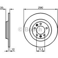 Bosch Fren Diski Arka 5D 290Mm C5 III 08 407 607 05 Rcz