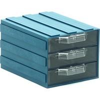 Sançelik 302-3 Plastik Çekmeceli Kutu (12 Adet)