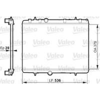 Valeo Radyatör Citroen C2C3C4C5 Peugeot 207208307308407
