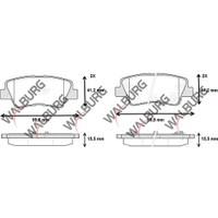Walburg Fren Balata İkazlı Arka Hyundai Elantra 1.6 D Cvvt 15.50Mm 2011