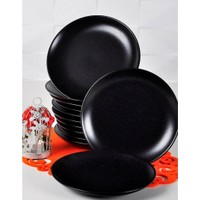 Acar Mutfak Seramik Mat Siyah Pasta Tabağı 21CM