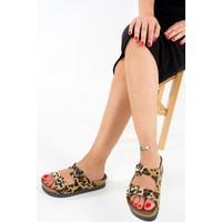 Fox Shoes Leopar Kadın Terlik B777775402
