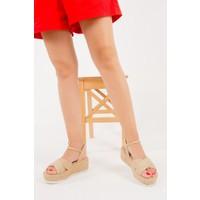 Fox Shoes Bej Kadın Sandalet F404100217