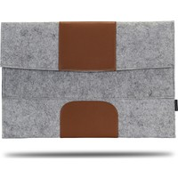 """Classone Avantgarde 15.6"""" Uyumlu Laptop Kılıfı - Gri/Kahverengi"""