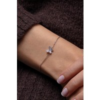Ninova Silver Zirkon Taşlı Kelebek Model Gümüş Bileklik