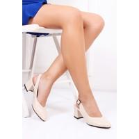 Tarçın Topuklu Bej Kadın Ayakkabı Trc01-Ald19002