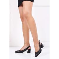Tarçın Topuklu Siyah Kadın Ayakkabı Trc01-Ald19002