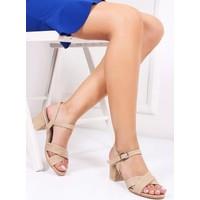 Tarçın Hasır Deri Kadın Topuklu Sandalet Trc130-7064
