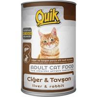Quik Ciğer ve Tavşanlı Kedi Konservesi 415 g x 12 Adet