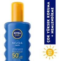 Nivea Sun Koruma&Nem Nemlendirici Güneş Spreyi Gkf 50+ 200 Ml