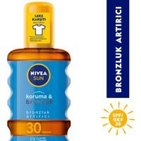 Nivea Sun Koruma&Bronzluk Bronzluk Arttırıcı & Koruyucu Güneş Yağı Gkf 30 200 Ml