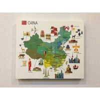 Mapofx Kanvas Çin Haritası Illüstrasyonu