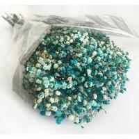 Doğal Cipso Çiçek Mavi ( 18 cm * 40 cm ) ( 1 Demet _ 50 Gram)
