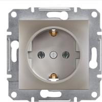 Schneider Electric Asfora Plus Topraklı Priz Bronz