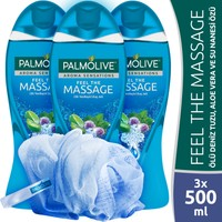 Palmolive Aroma Sensations Feel The Massage Duş Jeli 500 ml x 3 Adet + Duş Lifi Hediye